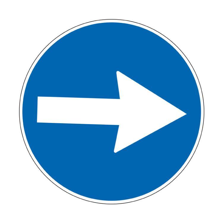 Direzione obbligatoria a destra