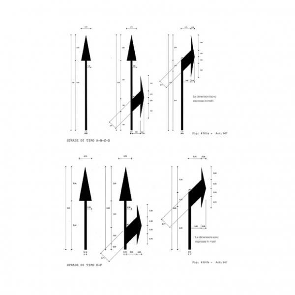 Forma e dimensioni delle frecce direzionali