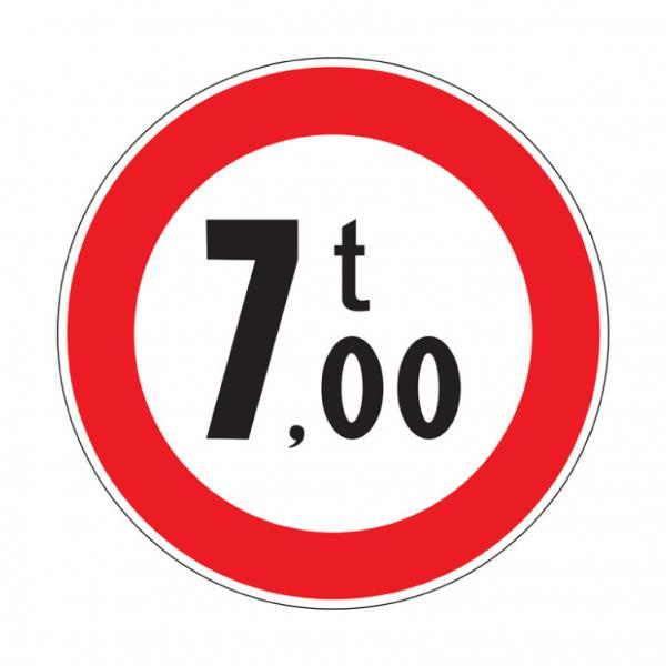 Transito vietato ai veicoli aventi una massa superiore a ... tonnellate
