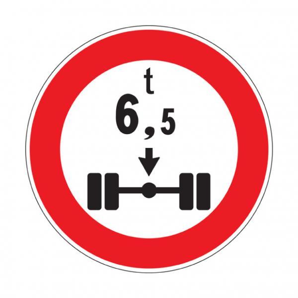 Transito vietato ai veicoli aventi una massa per asse superiore a ... tonnellate