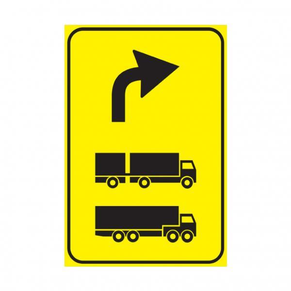 Preavviso di deviazione autocarri consigliata