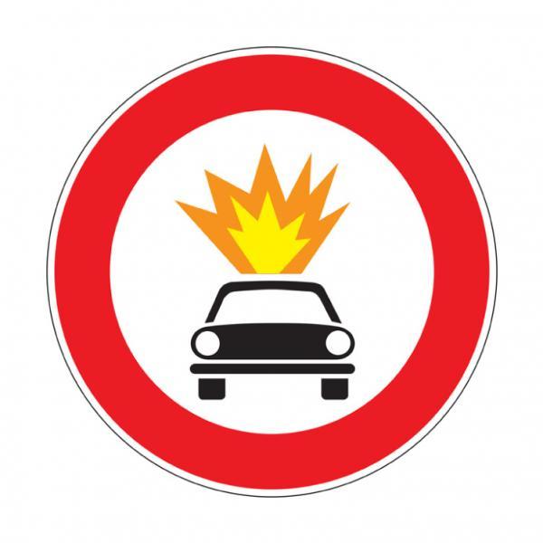 Transito vietato ai veicoli che trasportano esplosivi o prodotti facilmente infiammabili
