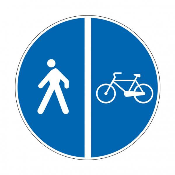 Pista ciclabile contigua al marciapiede