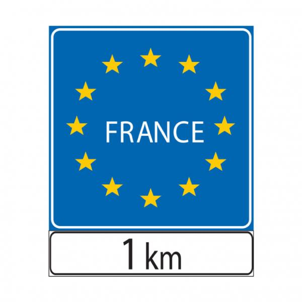 Preavviso di confine di stato tra paesi della comunità europea