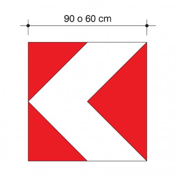 Delineatore modulare di curva provvisoria