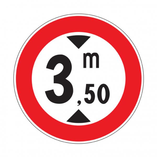 Transito vietato ai veicoli aventi altezza superiore a ... metri