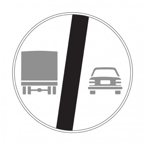 Fine del divieto di sorpasso per i veicoli di massa a pieno carico superiore a 3,5t