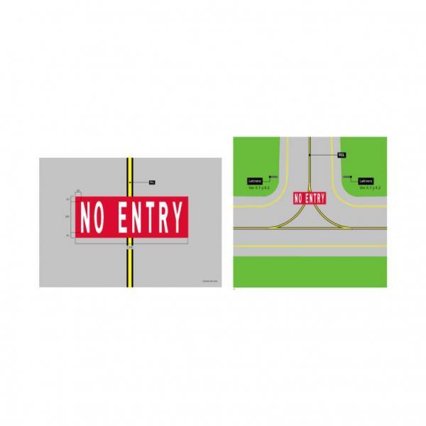 Markings con indicazione di divieto d'accesso