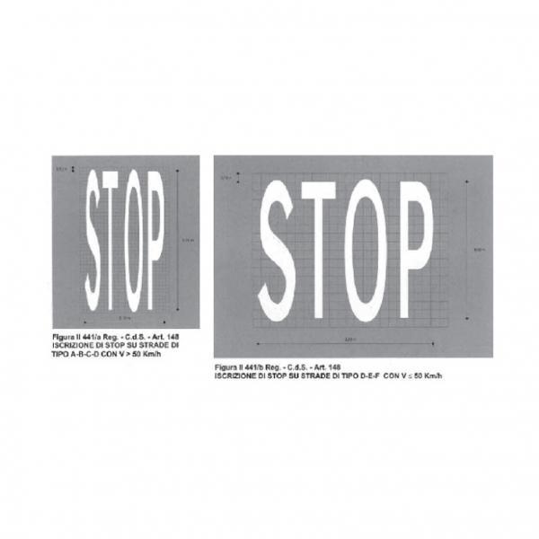 Iscrizione di STOP